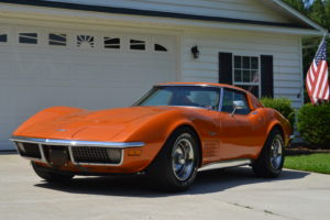1971 Corvette Ontario Orange, Corvette, 1971 Corvette, Stingray, Southern Classic Car, southernclassiccar.com,
